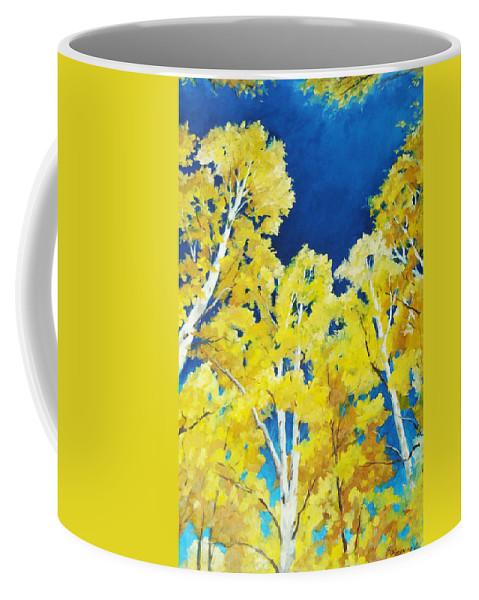 Sky Coffee Mug featuring the painting Skyward by Richard T Pranke