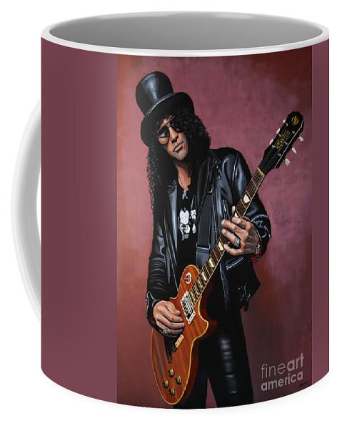 Slash Coffee Mug featuring the painting Slash by Paul Meijering