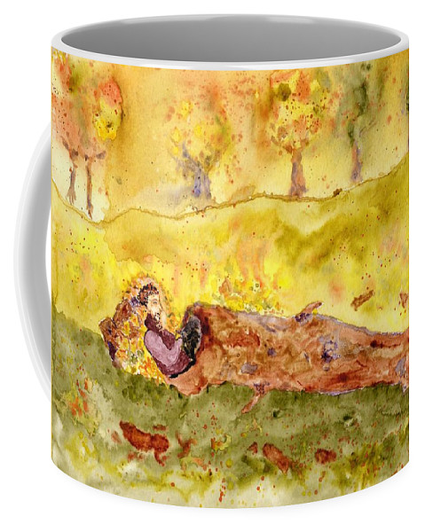 Jim Taylor Coffee Mug featuring the painting Sleep In A Hollow Log by Jim Taylor