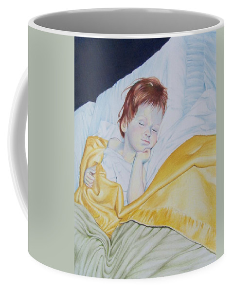 Baby Coffee Mug featuring the mixed media Sleeping Beauty by Constance Drescher