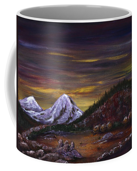 Mountain Coffee Mug featuring the painting Sleeping Dragon by Anastasiya Malakhova