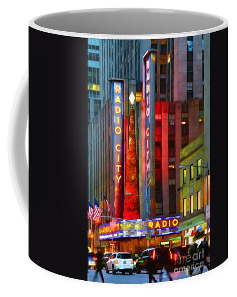 New York Holidays Coffee Mug featuring the photograph Slice Of Life Nyc-holiday Hustle by Regina Geoghan