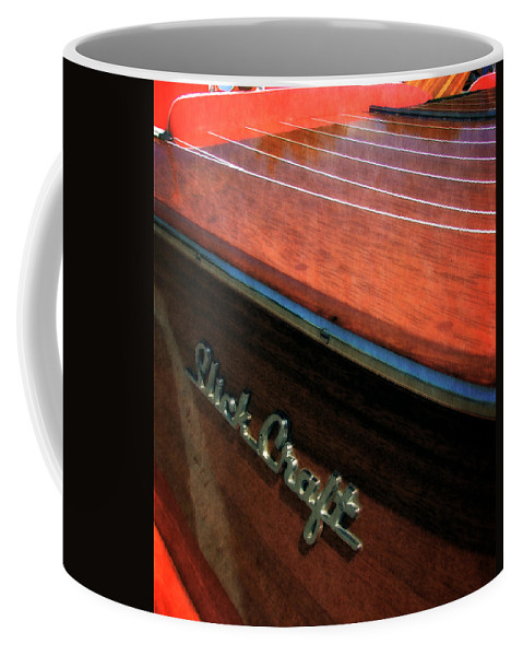 Slick Craft Coffee Mug featuring the photograph Slick Craft Powerboat by Michelle Calkins