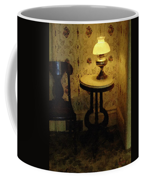 Antiques Coffee Mug featuring the painting Slightly Tipsy by RC DeWinter