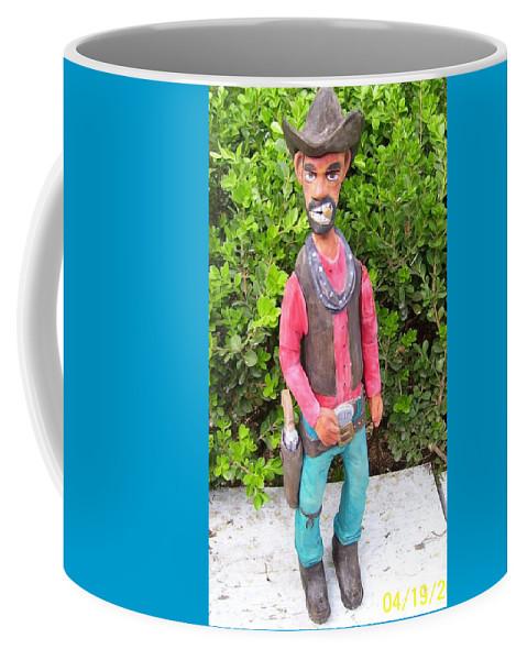 Cowboy Coffee Mug featuring the mixed media Slim by Michael Pasko