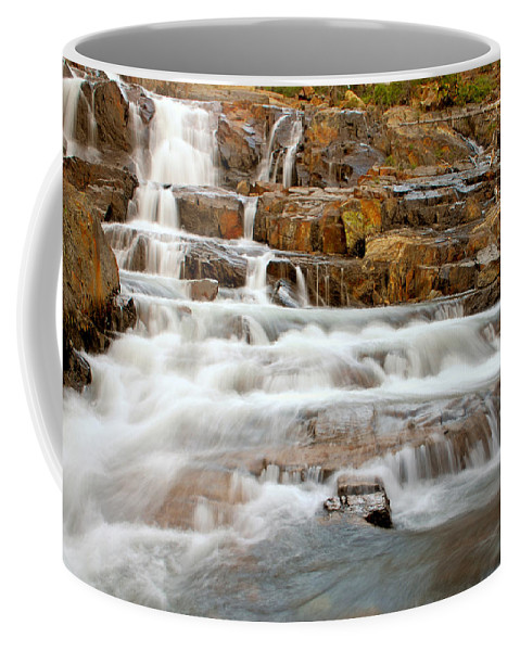 Water Fall Coffee Mug featuring the photograph Slippery When Wet by Donna Blackhall