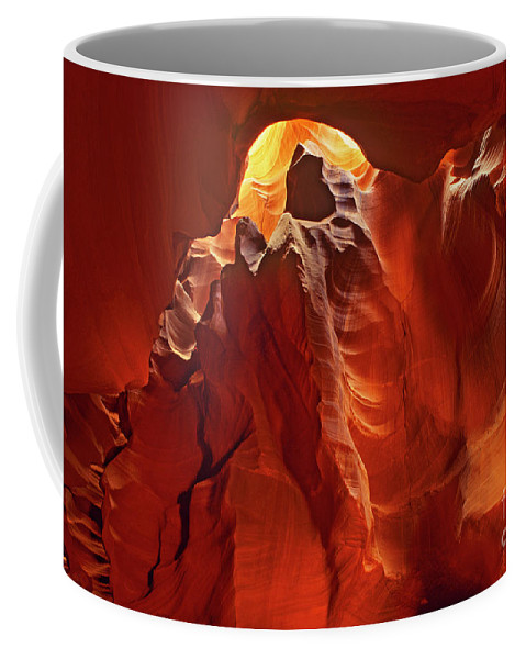 North America Coffee Mug featuring the photograph Slot Canyon Formations In Upper Antelope Canyon Arizona by Dave Welling