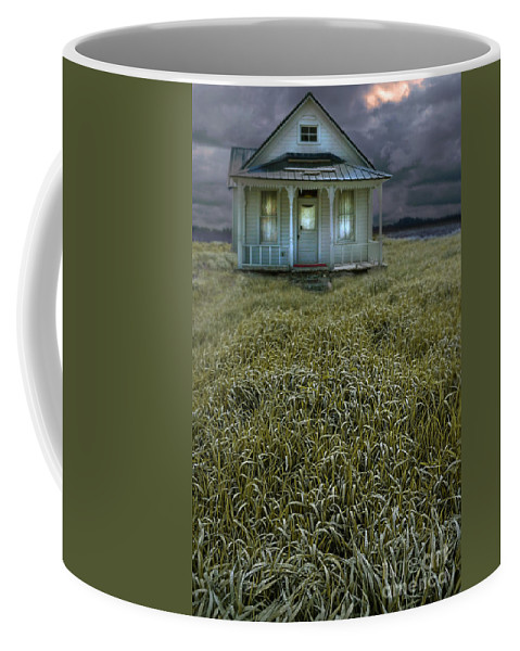 Farm Coffee Mug featuring the photograph Small Cottage In Storm by Jill Battaglia