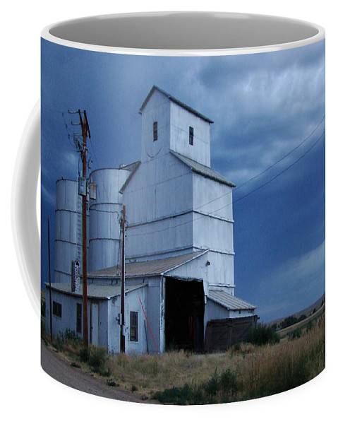 Photograph Coffee Mug featuring the photograph Small Town Hot Night Big Storm by Cathy Anderson