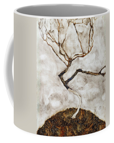 Egon Schiele Coffee Mug featuring the painting Small Tree In Late Autumn by Egon Schiele
