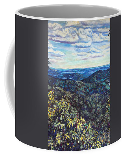 Landscape Coffee Mug featuring the painting Smartview Blue Ridge Parkway by Kendall Kessler