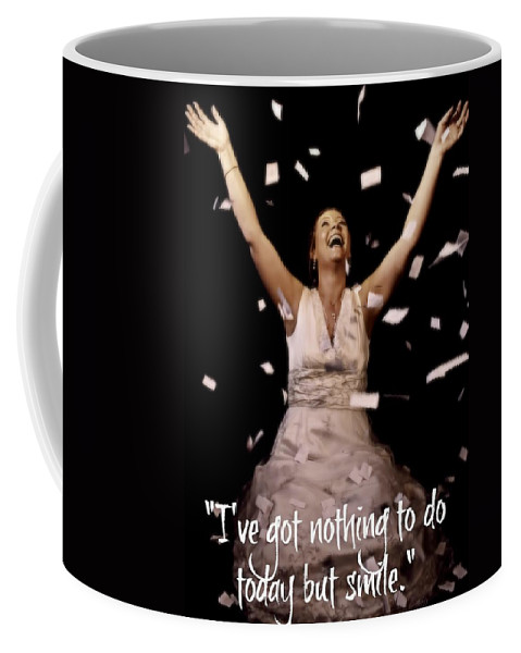 Woman Coffee Mug featuring the photograph Smile by Amanda Stadther