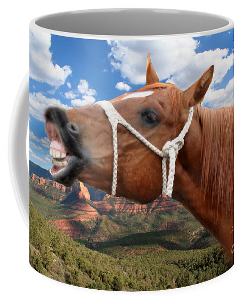 Horse Coffee Mug featuring the photograph Smile When You Say That by Gary Keesler