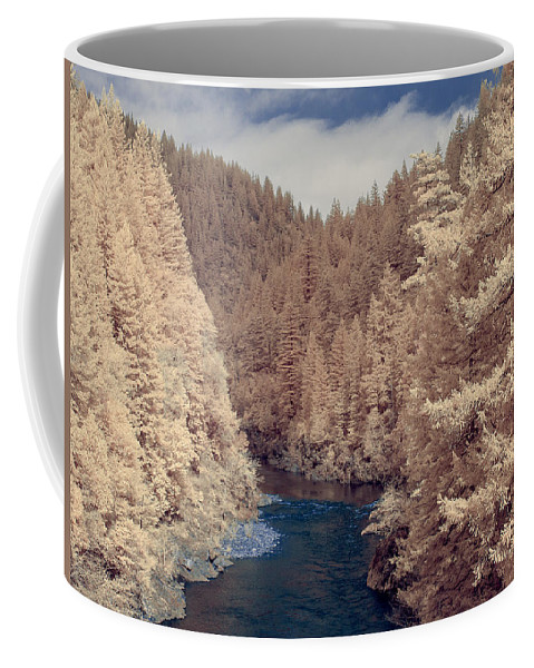 Infrared Coffee Mug featuring the photograph Smith River Forest Canyon by Greg Nyquist