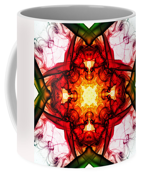 Smoking Trails Coffee Mug featuring the photograph Smoke Art 104 by Steve Purnell