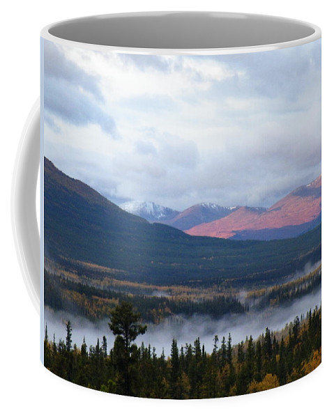Green Coffee Mug featuring the photograph Smoke On The Water by Brian Boyle