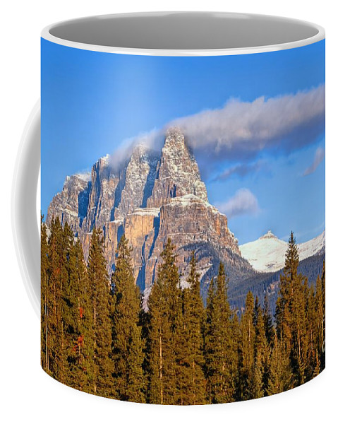 Banff National Park Coffee Mug featuring the photograph Smoke Stack by James Anderson
