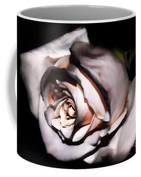 Smoked Rose Coffee Mug featuring the photograph Smoked Rose by Mariola Bitner