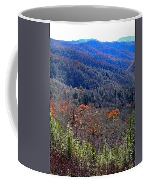 Scenic Tours Coffee Mug featuring the photograph Smokey Mountain Pass by Skip Willits