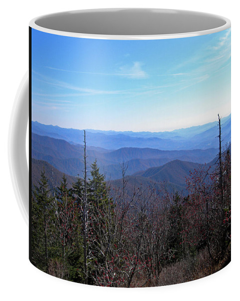 Nature Coffee Mug featuring the photograph Smokey Mountains by Skip Willits