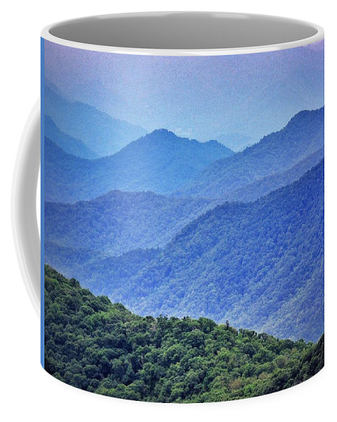 Smoky Coffee Mug featuring the photograph Smoky by Skip Hunt