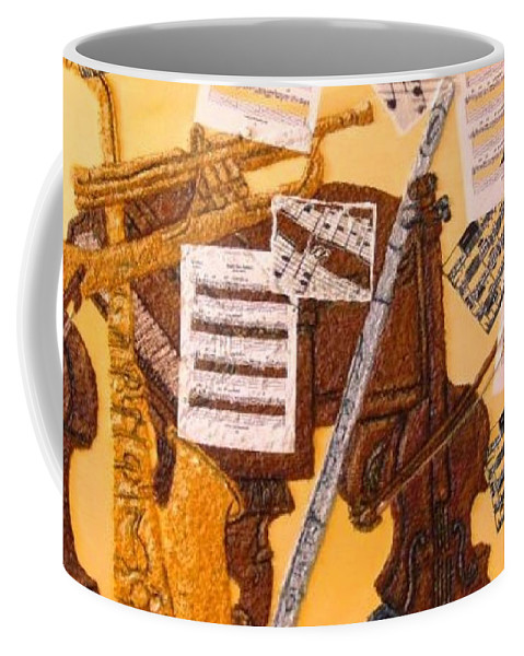 Smooth Jazz Coffee Mug featuring the painting Smooth Jazz by Leslye Miller