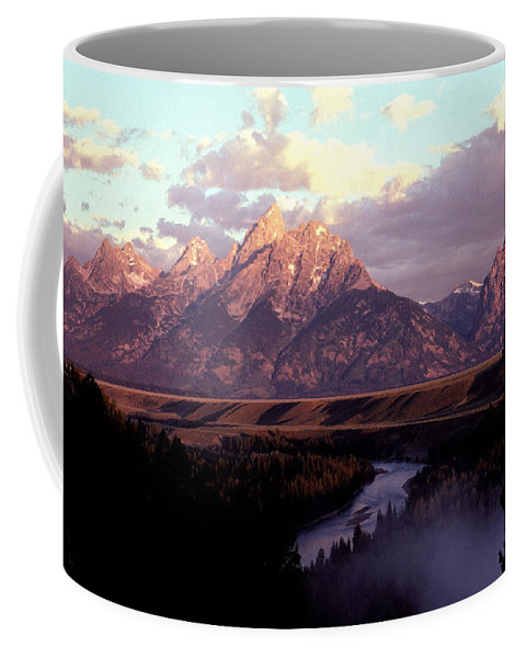 Snake River Coffee Mug featuring the photograph Snake River Overlook At Dawn by Cyril Furlan