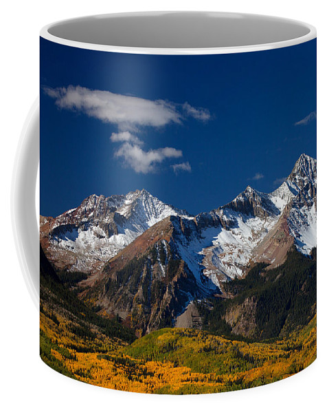 Colorado Landscapes Coffee Mug featuring the photograph Sneffels Clearing by Darren White