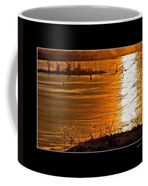 Sunset Coffee Mug featuring the photograph Snow And Ice Sunset by Larry Jost