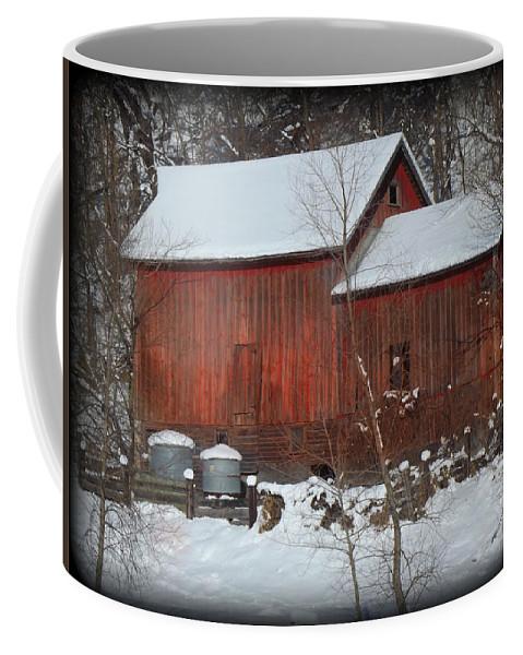 Snow Coffee Mug featuring the photograph Snow Barn II by Bonfire Photography