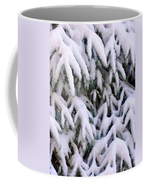 Snow Laden Branches Coffee Mug featuring the photograph Snow Laden Branches by Cynthia Woods