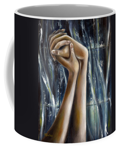 Blue Coffee Mug featuring the painting Snow Light by Hiroko Sakai