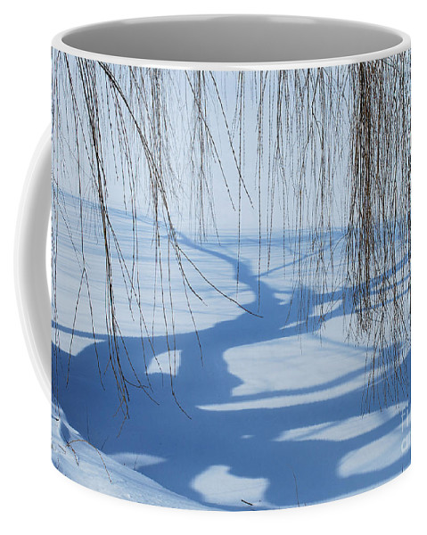Chicago Botanic Garden Coffee Mug featuring the photograph Snow Shadows I by Nancy Mueller