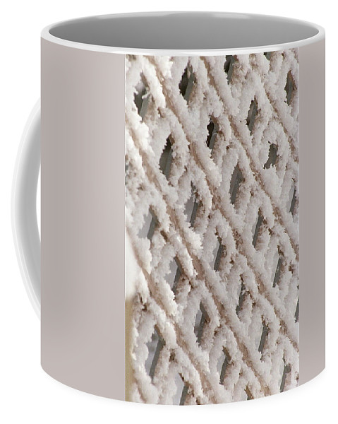 Snow Coffee Mug featuring the photograph Snowy Lattice Vertical by Wayne Williams