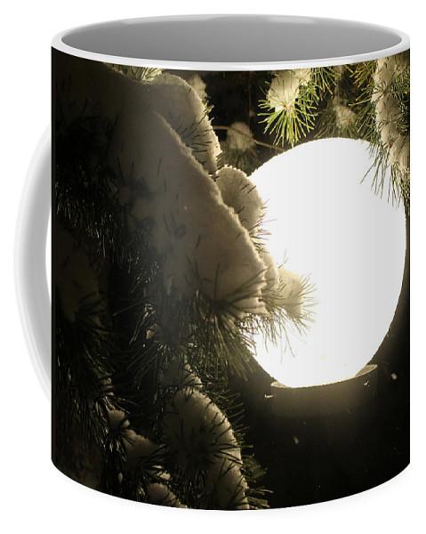 Snow Coffee Mug featuring the photograph Snowy Night by Fiona Kennard