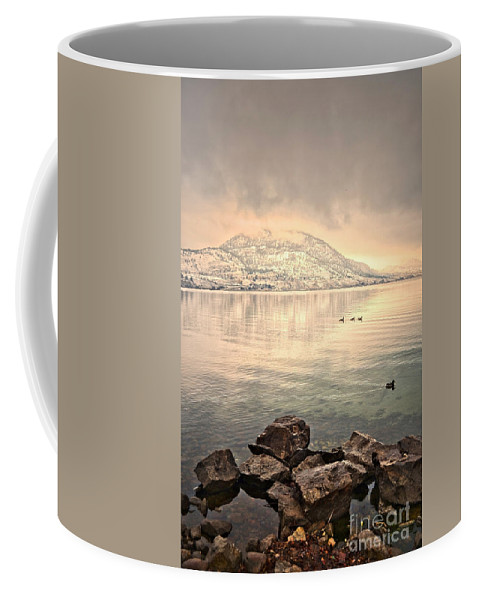 Mountains Coffee Mug featuring the photograph Snowy Reflections by Tara Turner