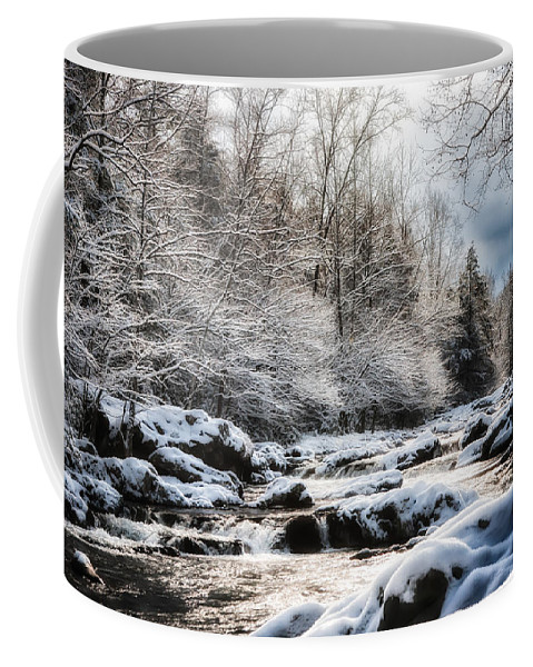 Snowy River Coffee Mug featuring the photograph Snowy River by Debbie Beck