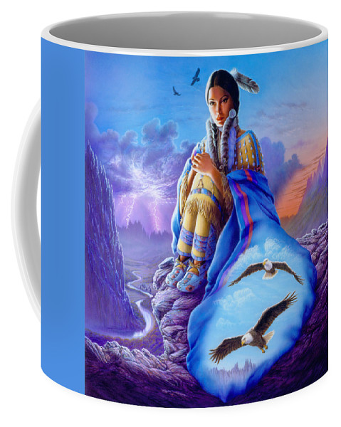 Andrew Farley Coffee Mug featuring the photograph Soaring Spirit by MGL Meiklejohn Graphics Licensing
