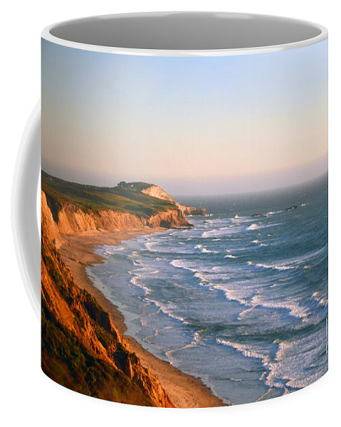 Pacific Coffee Mug featuring the photograph Socal Coastline Sunset by Clayton Bruster