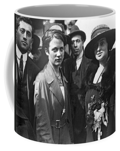 1912 Coffee Mug featuring the photograph Society Women In Steerage by Underwood & Underwood