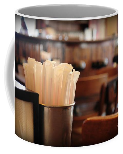 Interior Design Coffee Mug featuring the photograph Soda Straws by Paulette B Wright