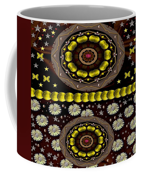 Landscape Coffee Mug featuring the mixed media Soft As Velvet Is The Sunset Pop Art by Pepita Selles