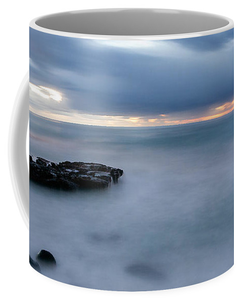 Beach Coffee Mug featuring the photograph Soft Blue And Wide by Peter Tellone