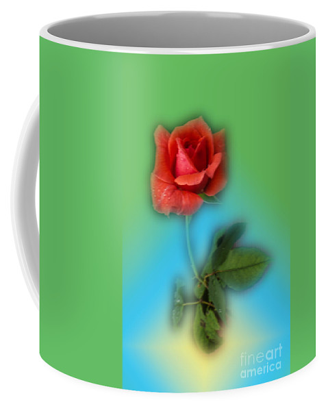 Rose Coffee Mug featuring the photograph Soft by Donna Brown