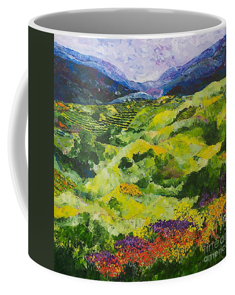 Landscape Coffee Mug featuring the painting Soft Grass by Allan P Friedlander