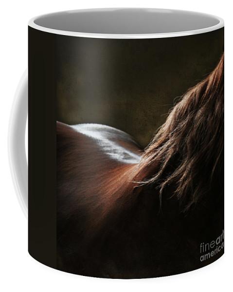 Horse Coffee Mug featuring the photograph Soft Shapes by Angel Ciesniarska