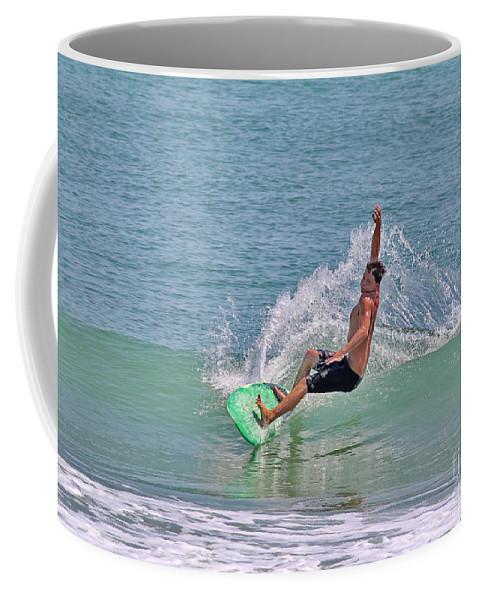 Surf Coffee Mug featuring the photograph Soft Surf by Deborah Benoit