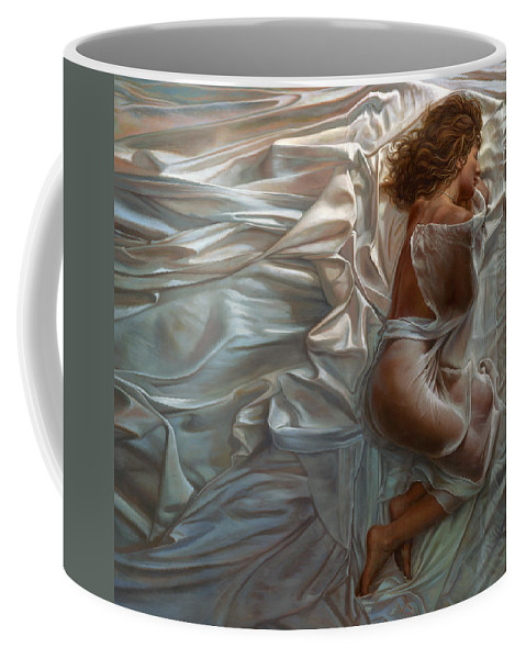 Portrait Coffee Mug featuring the painting Sogni Dolci by Mia Tavonatti