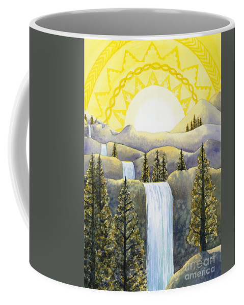 Power Coffee Mug featuring the painting Solar Plexus Chakra by Catherine G McElroy