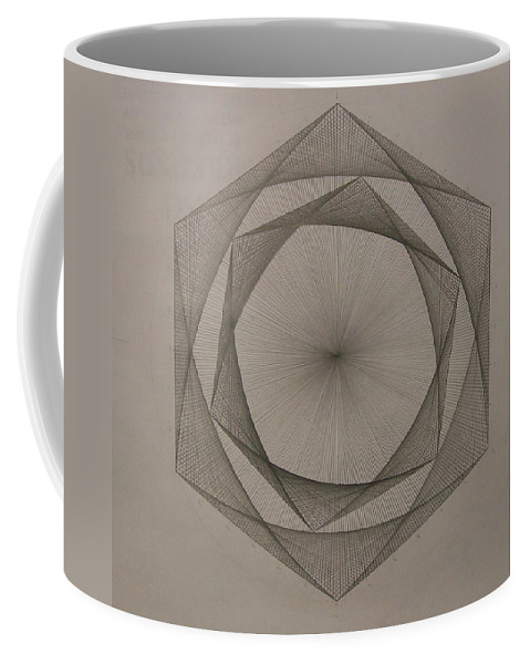 Fractal Coffee Mug featuring the drawing Solar Spiraling by Jason Padgett